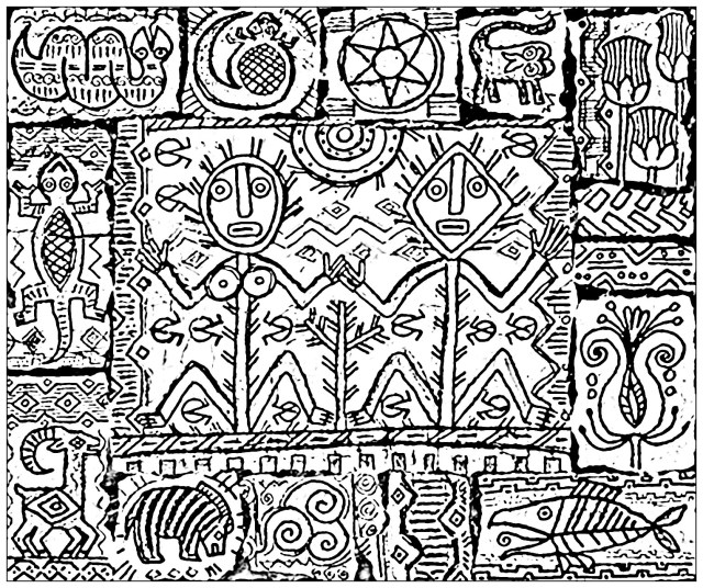 Inspired by shamanism - Myths & legends Adult Coloring Pages