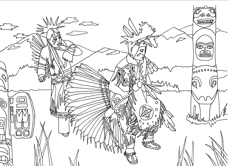 Native Americans Indians Dance Totem