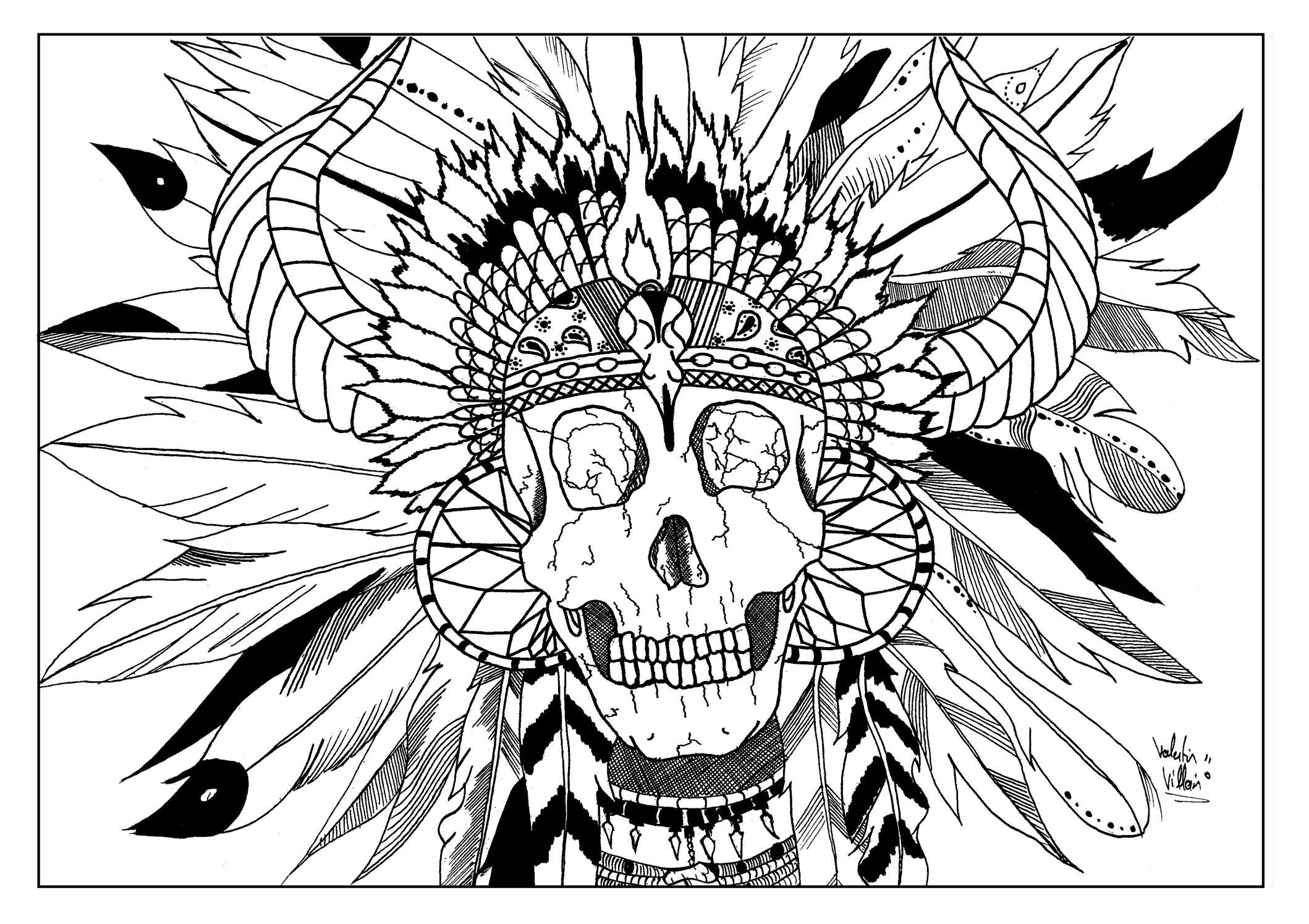 Skull Indian