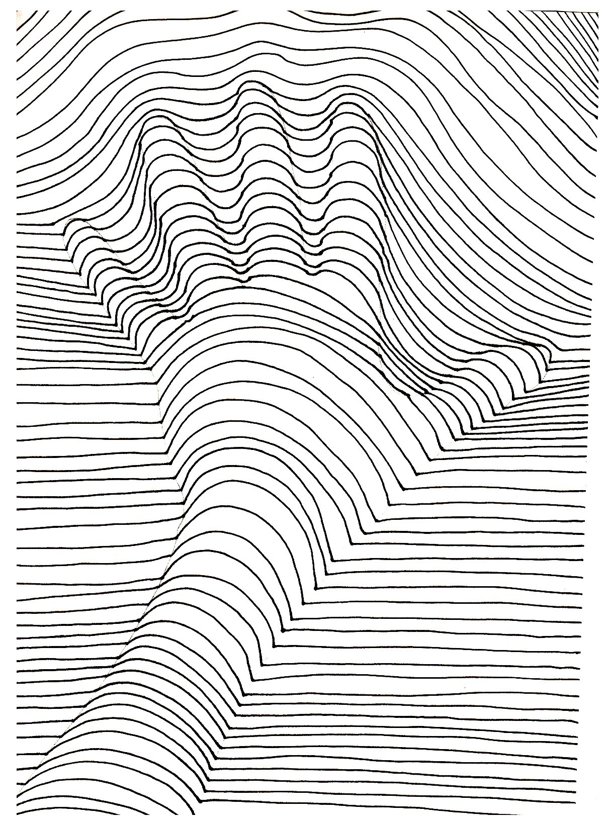 Op Art Illusion Optique Main