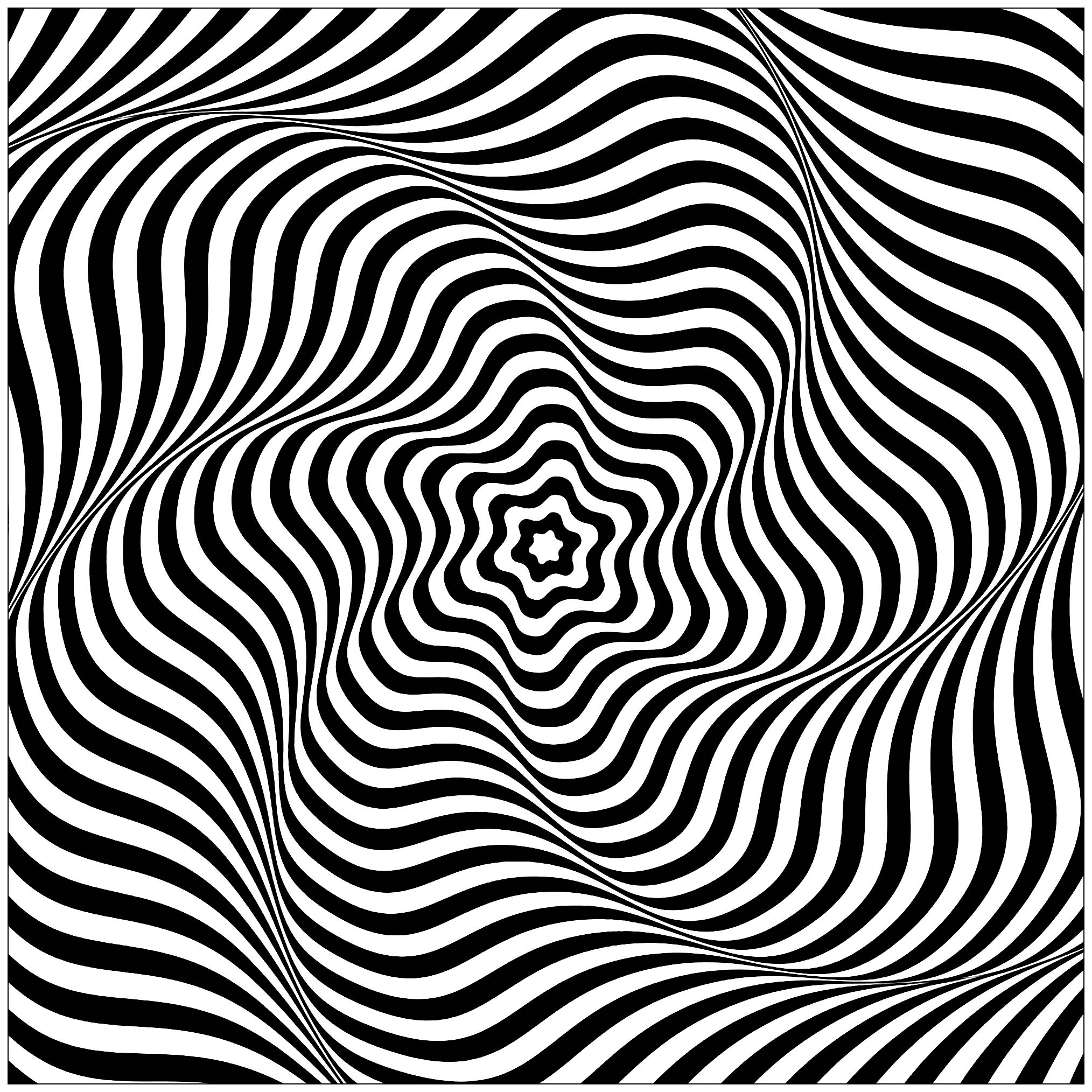 Op Art Wavy Rotary Movement