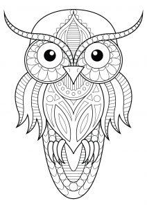 owl color pages # 6