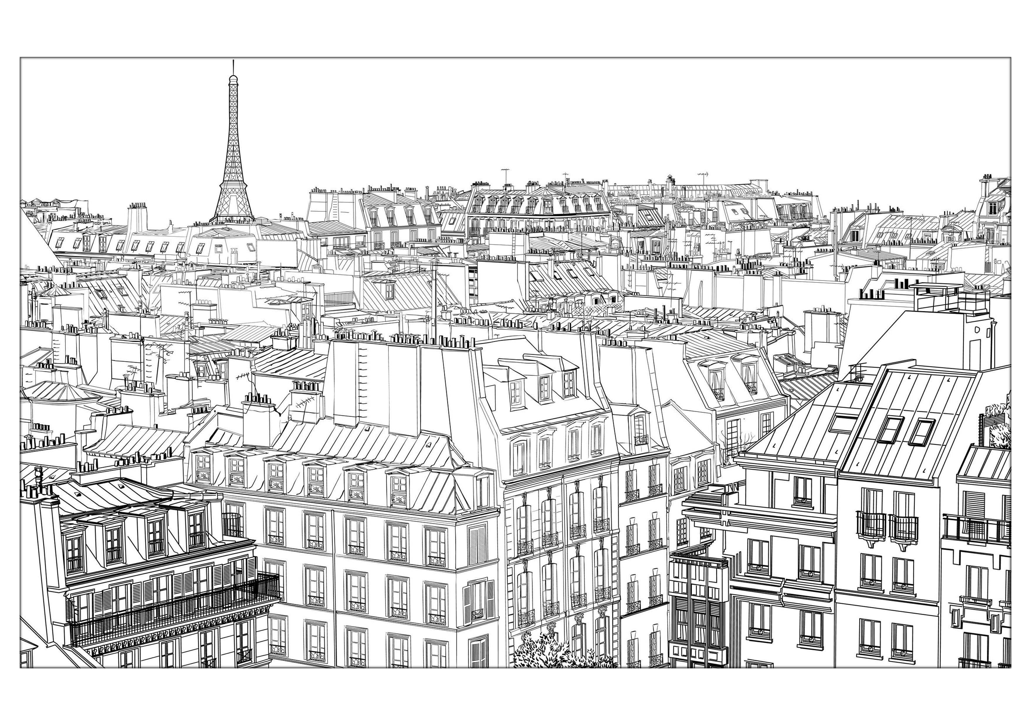 Paris 1 Paris Coloring Pages For Adults Justcolor