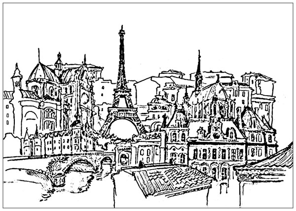 eiffel tower coloring pages # 59
