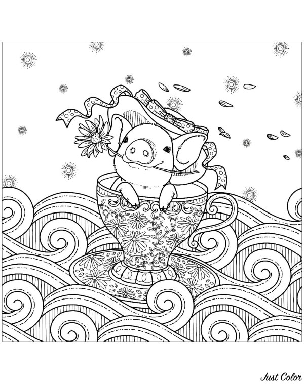 coloring pages of pigs # 9