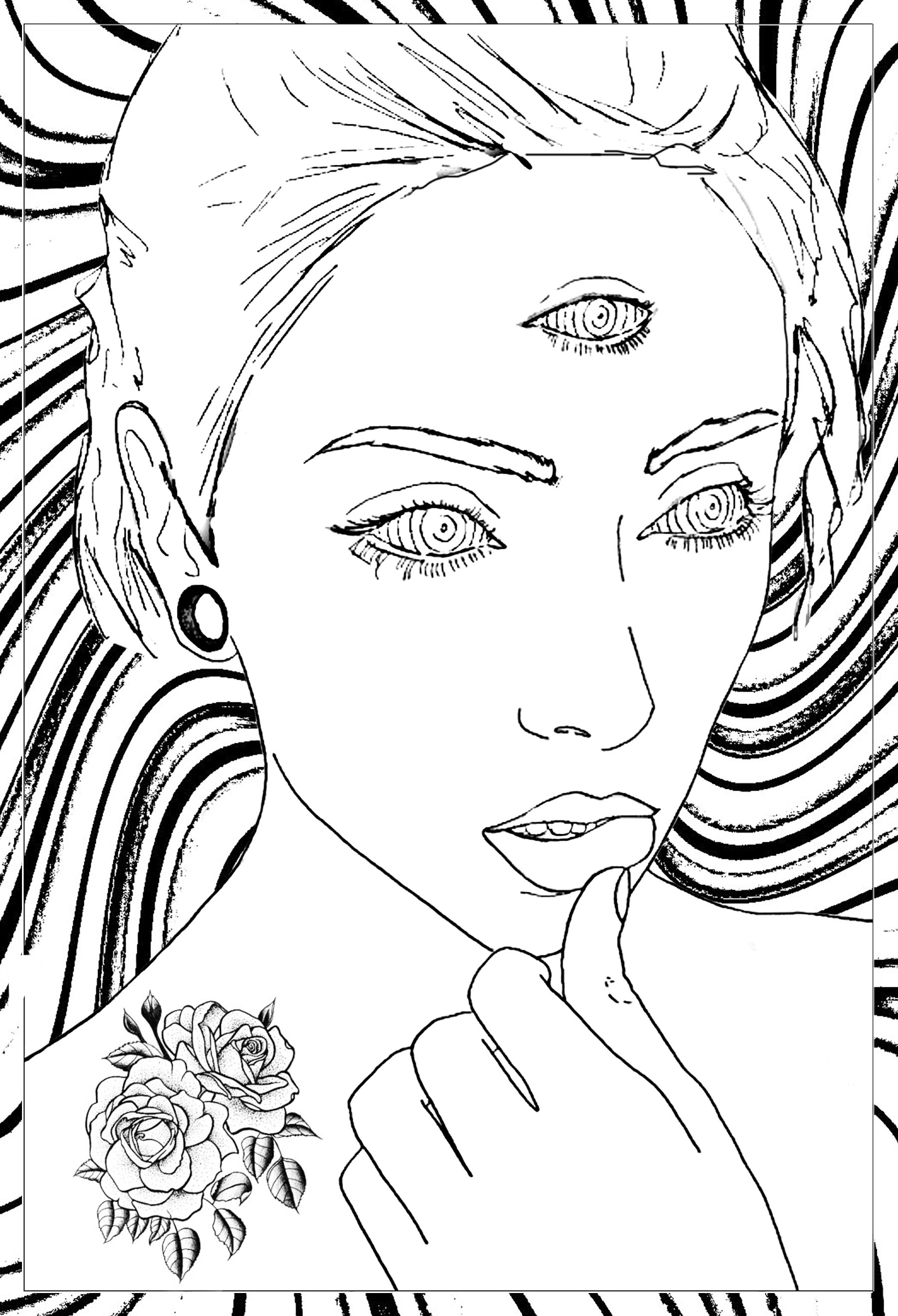 Women Coloring Pages For Adults Justcolor