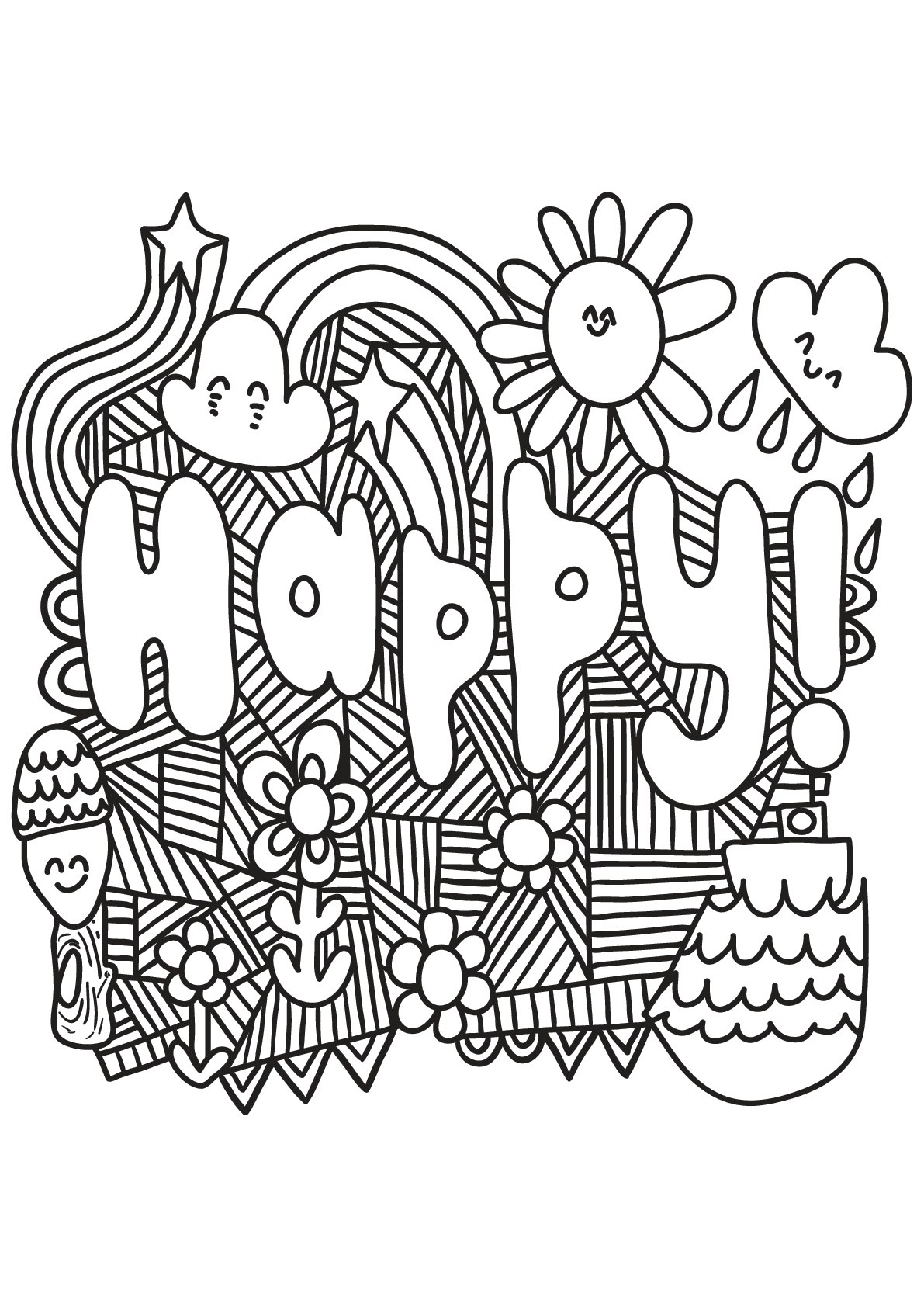 Saying Coloring Pages