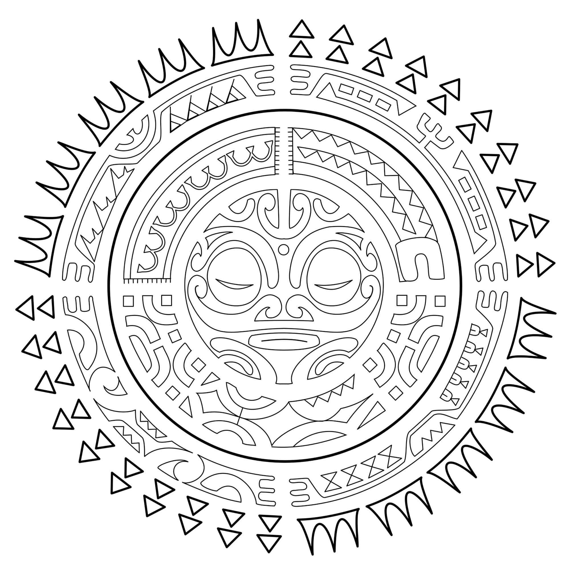 Polynesian Tattoo The Sun