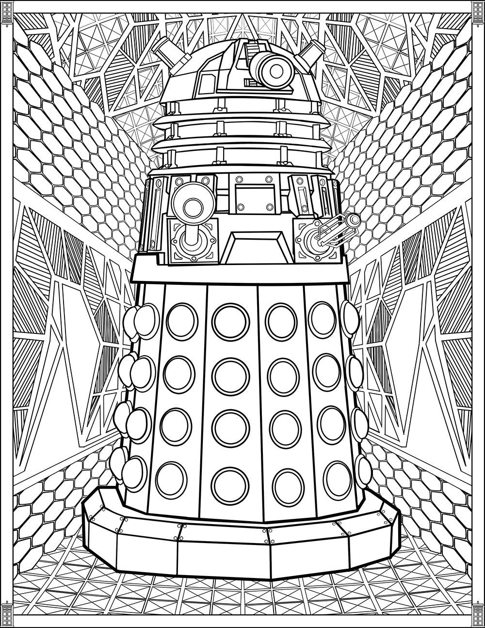 Doctor Who Pages Dalek Tv Shows Coloring Pages For Adults