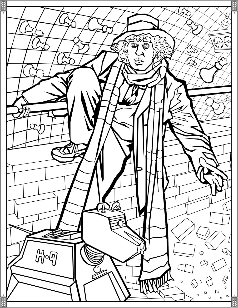 Doctor Who Pages Fourth Doctor Tv Shows Coloring Pages For
