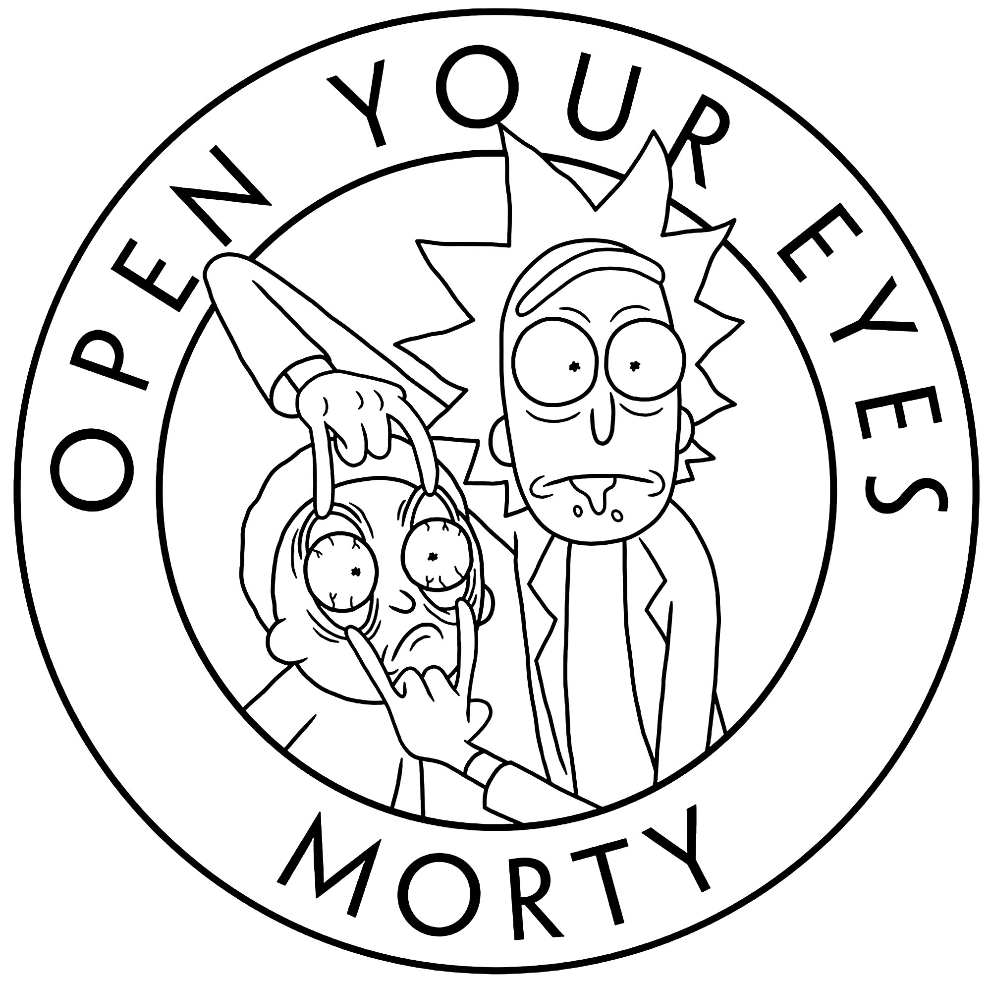 Rick And Morty Open Your Eyes