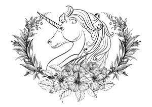 unicorn color pages # 23