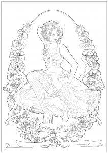 vintage coloring pages # 4