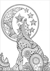 wolves coloring pages for