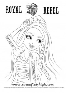Coloriage Ever After High Ashlynn Ella Coloriages Modern Home