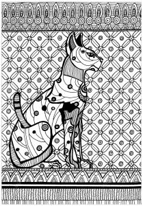 Egypte chat style egyptien et symboles Egypte