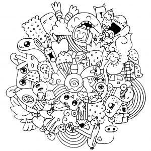 Gekritzelkunst Gekritzel 6145 Doodle Art Doodling