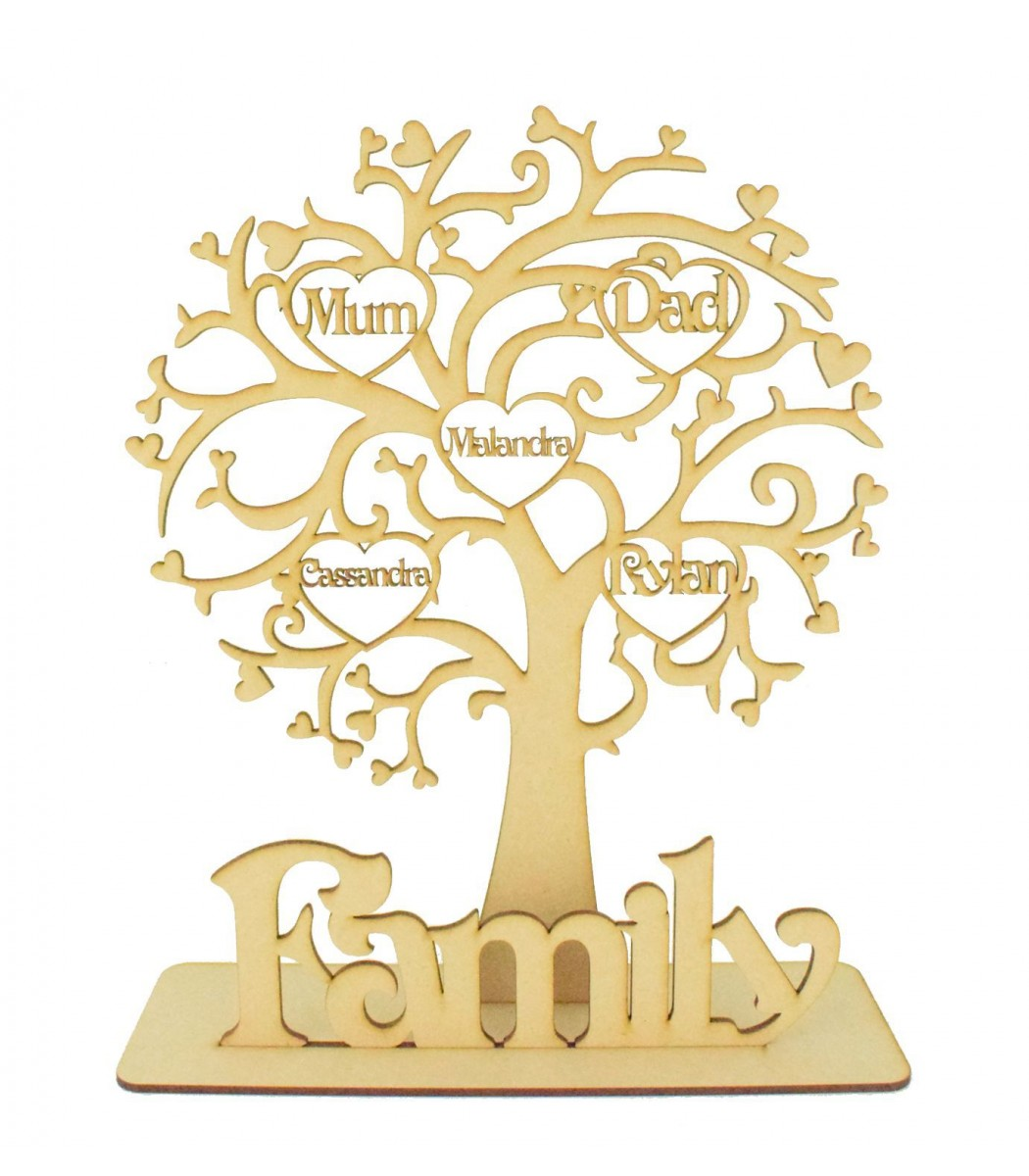 laser cut personalised family