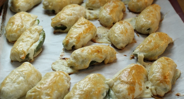 Puff Pastry Wrapped Prosciutto Jalapeno Poppers