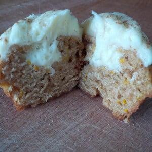 zucchini muffins with cream cheese
