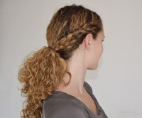 The half french braid ending in a ponytail tutorial