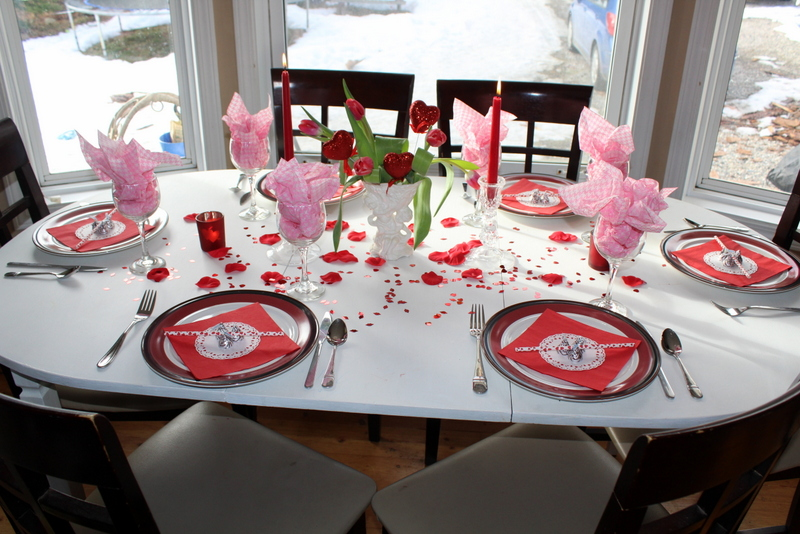 Valentine inspired tablescape