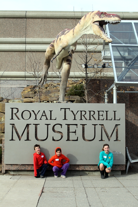Sleepover with dinosaurs.Best tour of the Royal Tyrrell Museum, Drumheller Alberta.