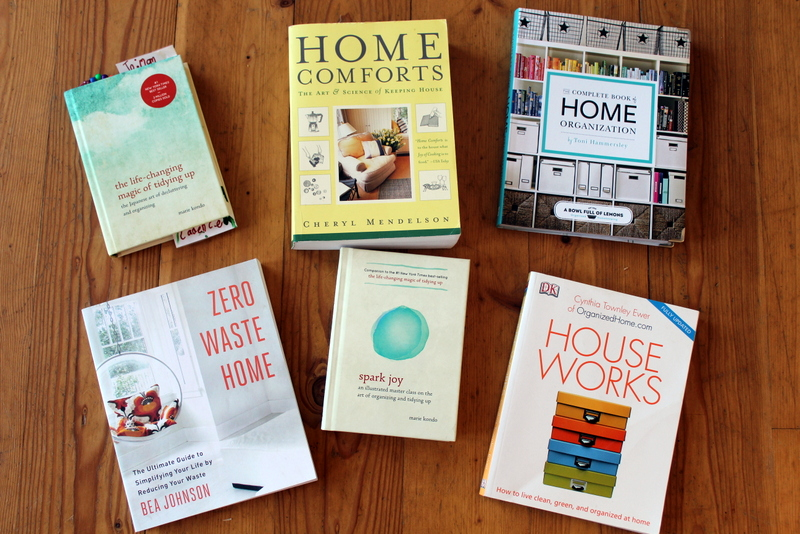 Favorite Organizing books and Decluttering and organizing in January