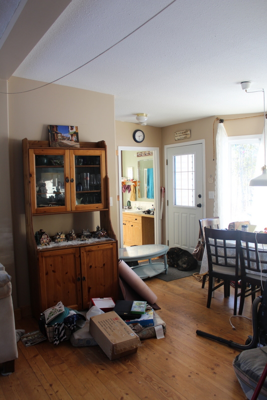 Decluttering and organizing in January.