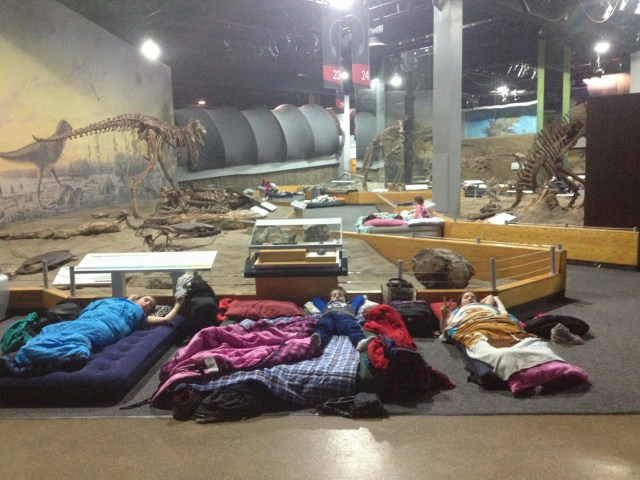 Sleepover with dinosaurs. Best tour of Royal Tyrrell Museum!