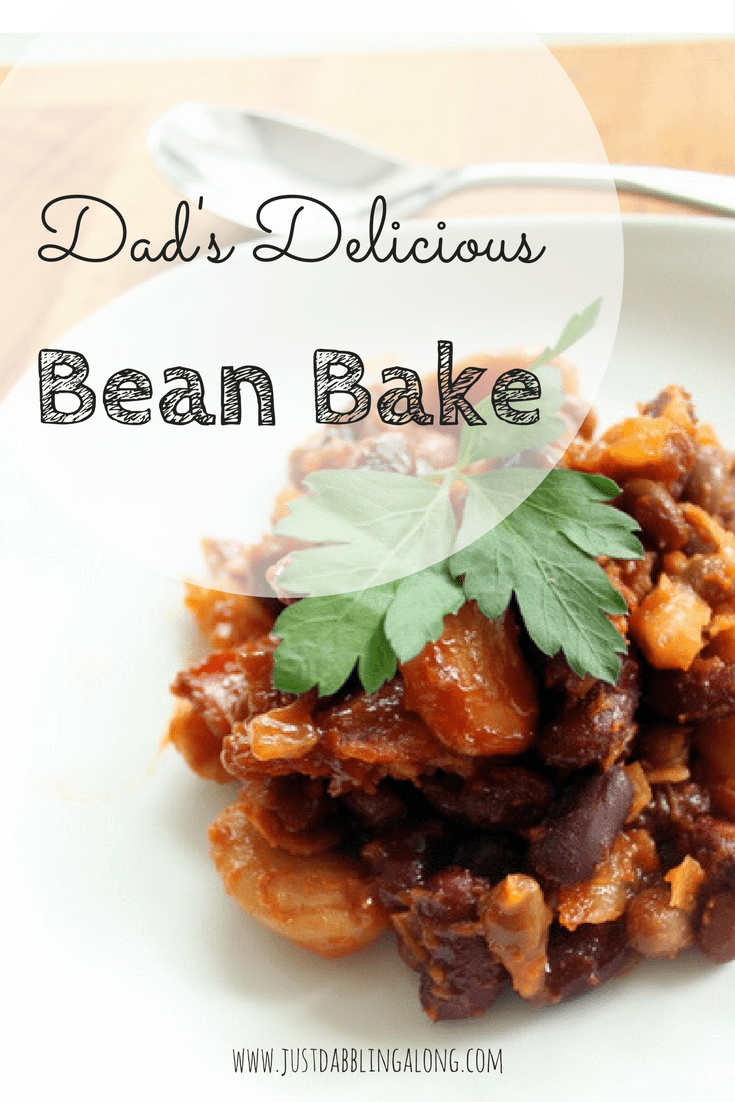 Yum! This delicious bean bake is so easy to make and it is soooo delicious. This would be a great side dish for a Father's Day BBQ.