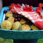 These yummy corn muffins are excellent fare for your 4th of July or Canada Day picnic!