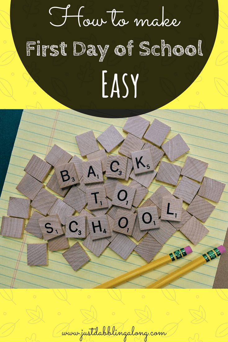 How to make the first day of school easy on your kids and some ways to help alleviate their fears.