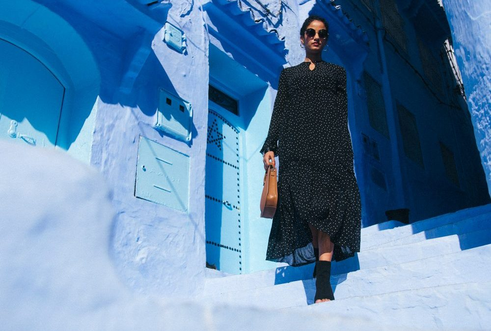 Moments in Chefchaouen: Riva fashion fall collection