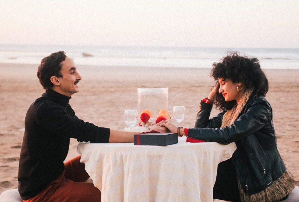 Beach valentine's date