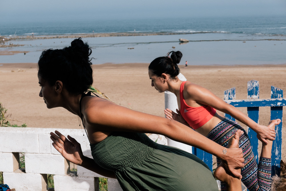 yoga hind skhirat beach morocco blogger justdalal 7 - Seashore and Yoga weekend in Morocco and my again ache story