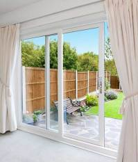 White Patio Doors, 2 Pane UPVC Sliding