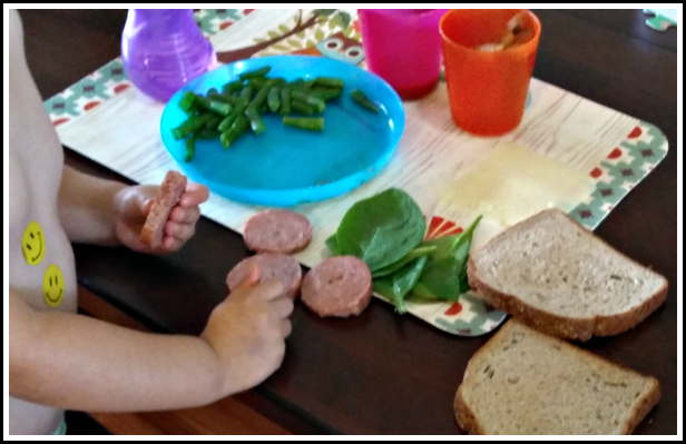 Toddler picking apart his food? Call it a success, he's getting exposure to all the parts.