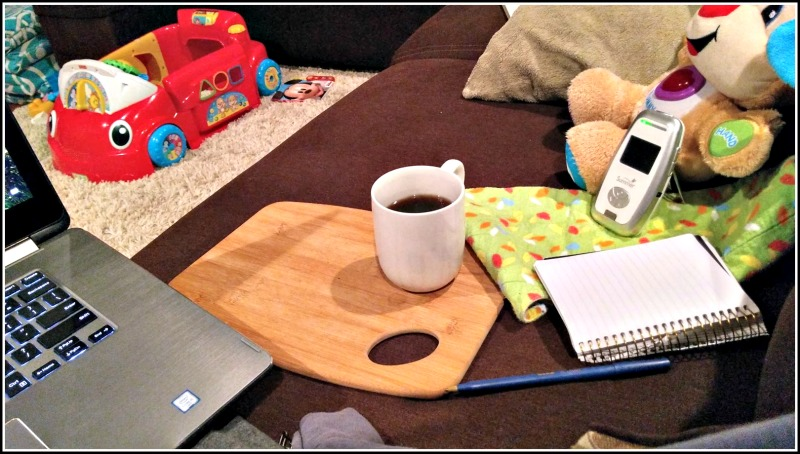 There may not be time to clear out the toys when you're a mom looking for solo creative time.