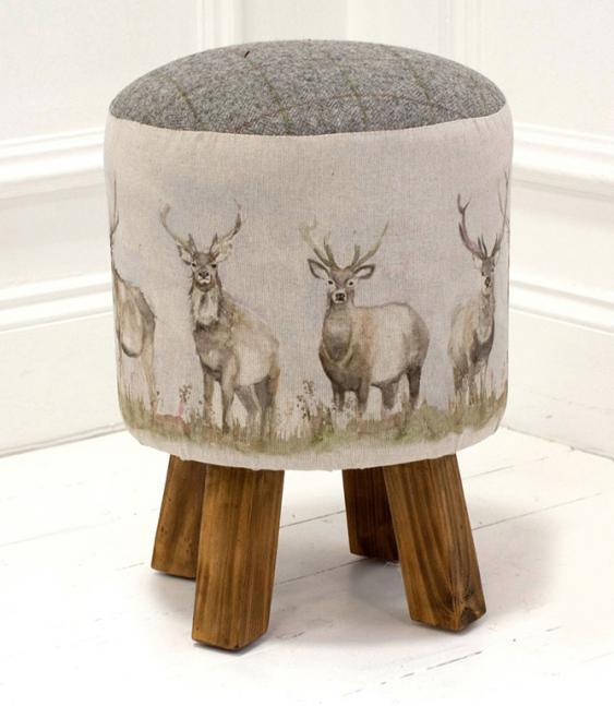 fabrics for sofas uk sofa seafoam corsica moorland stag monty stool | just