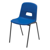 Hille GH20 Stacking Chair With Flint Grey Frame - Seat ...