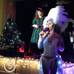 Drag queens Ashford Dunwoody (left) and Jizel (right) at the holiday fundraiser.
