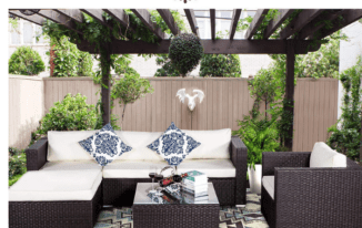 Why should you have patio furniture for outdoor living space?