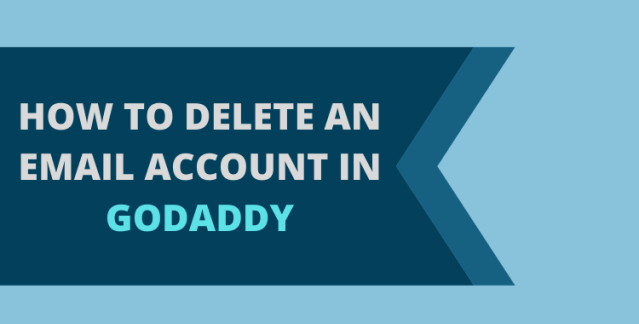 delete godaddy email account
