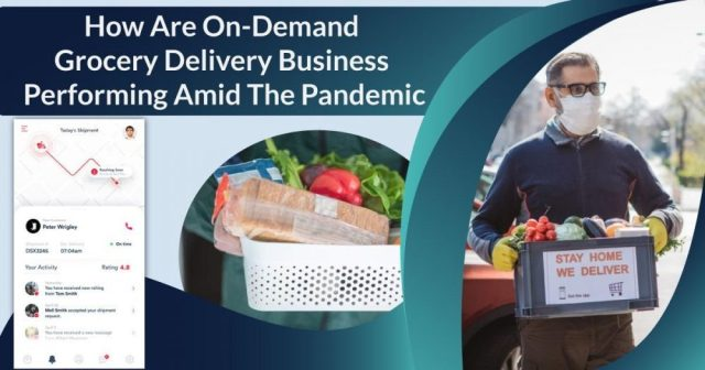How are on-demand grocery delivery business performing amid the pandemic