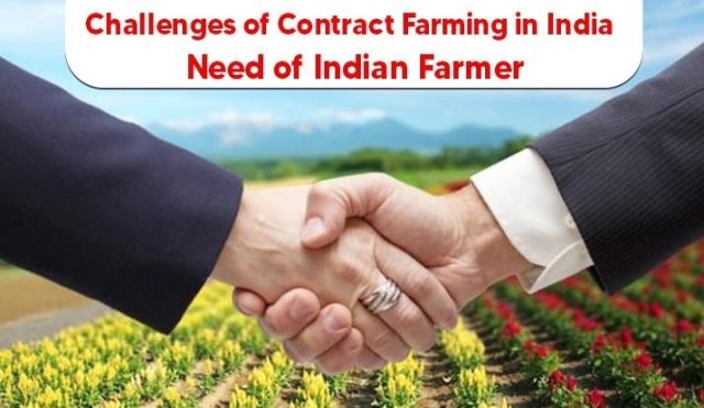 Challenges of Contract Farming in India – Need of Indian Farmer