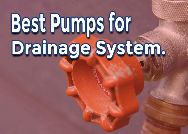 pump for drainage system