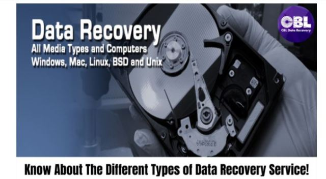 Get To Know About The Different Types of Data Recovery Service