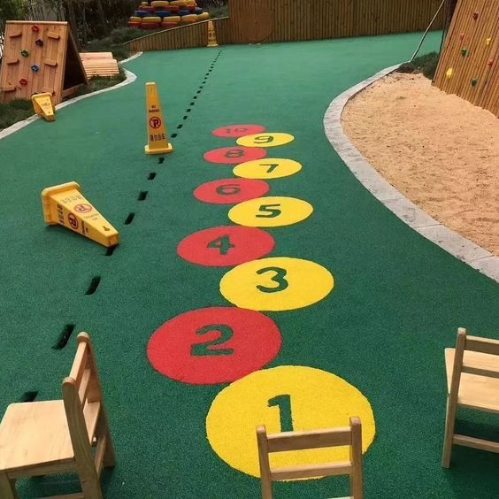rubber tiles playground