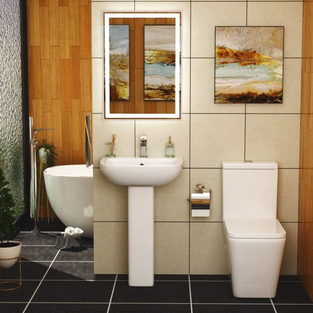 Welcome to the era of rimless toilet in the bathroom